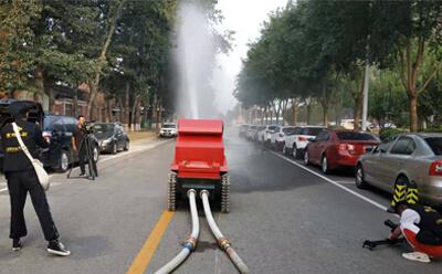 力升高科消防机器人拍摄花絮