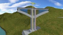 桥梁建筑 三维施工动画